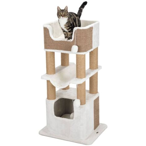 TRIXIE Cat Scratching Post Lucano XXL White and Taupe - Multicolour