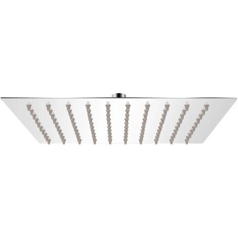 vidaXL Rain Shower Head Stainless Steel 20x20 cm Square - Silver