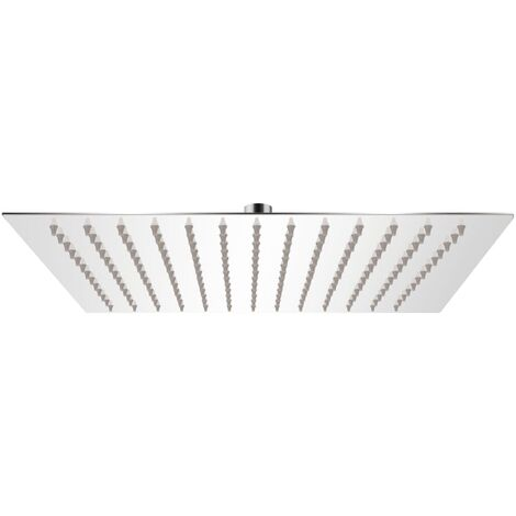 vidaXL Rain Shower Head Stainless Steel 25x25 cm Square - Silver