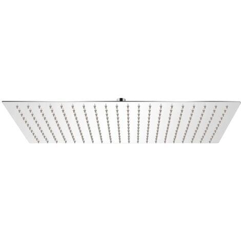 vidaXL Rain Shower Head Stainless Steel 30x50 cm Rectangular - Silver