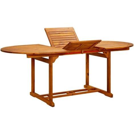 vidaXL Garden Table Solid Acacia Wood 200x100x74 cm - Brown