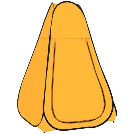 vidaXL Pop Up Shower Tent Yellow