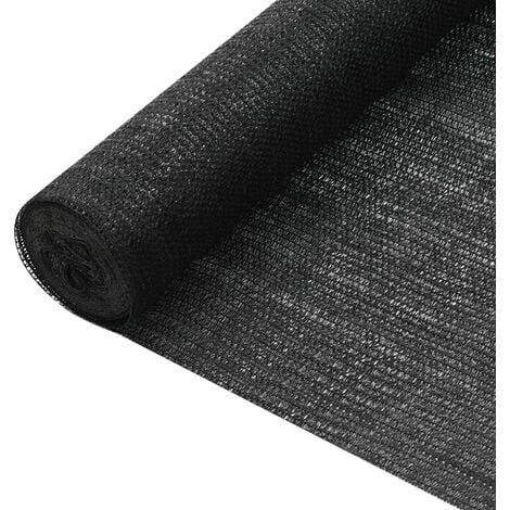 vidaXL Privacy Net Black 1x25 m HDPE 75 g/m² - Black
