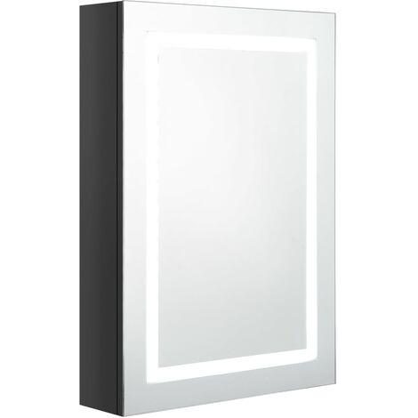 vidaXL LED Bathroom Mirror Cabinet Shinning Black 50x13x70 cm - Black
