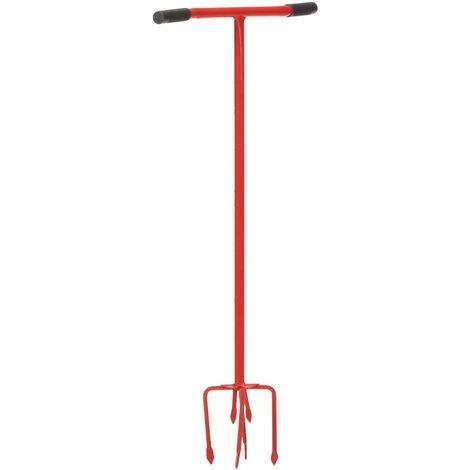 vidaXL Garden Claw Red Steel