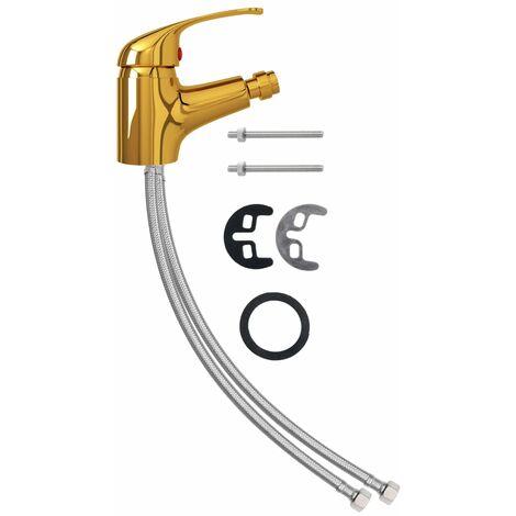vidaXL Bathroom Bidet Mixer Tap Gold 13x12 cm - Gold