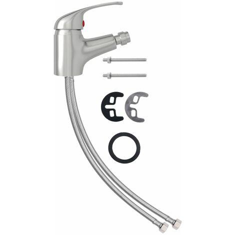 vidaXL Bathroom Bidet Mixer Tap Silver 13x12 cm