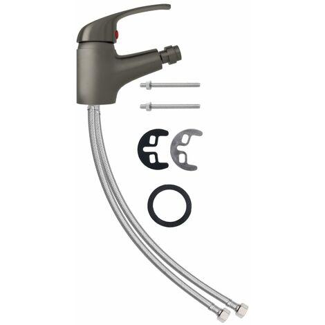 vidaXL Bathroom Bidet Mixer Tap Grey 13x12 cm - Grey