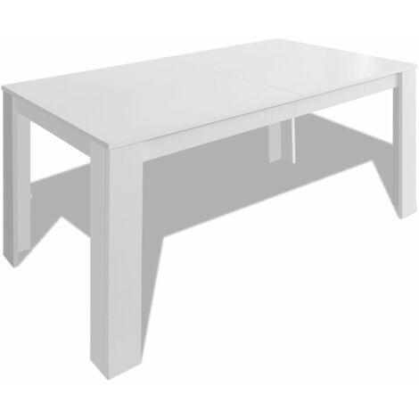 vidaXL Dining Table 140x80x75 cm White - White