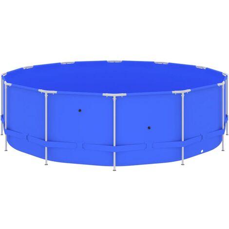vidaXL Swimming Pool with Steel Frame 457x122 cm Blue