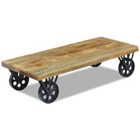 vidaXL Coffee Table Mango Wood 120x60x30 cm - Brown