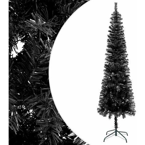 vidaXL Slim Christmas Tree Black 210 cm