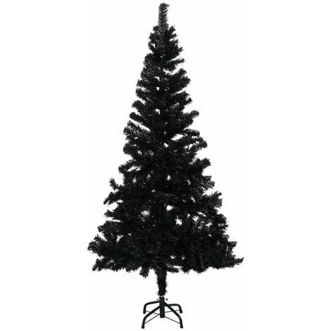 vidaXL Artificial Christmas Tree with Stand Black 120 cm PVC