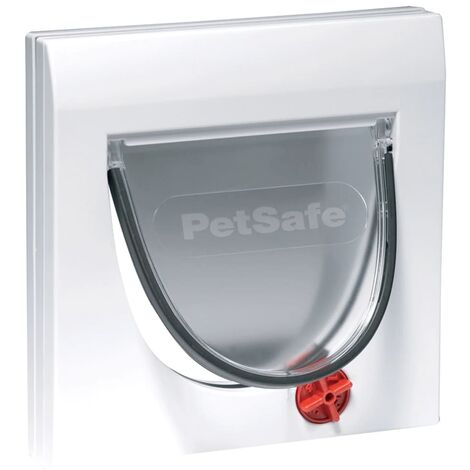 PetSafe Manual 4-Way Cat Flap without Tunnel Classic 919 White 5031 - White