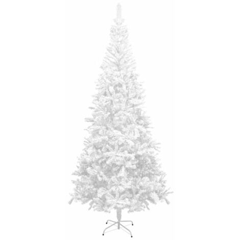 vidaXL Artificial Christmas Tree L 240 cm White - White