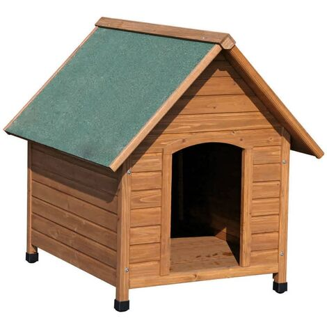 Kerbl Dog House 100x88x99 cm Brown and Green 82395 - Brown