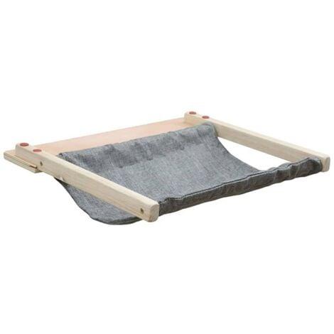 Kerbl Wall-Mounted Cat Hammock Tofana 45x40 cm Grey 81544 - Grey