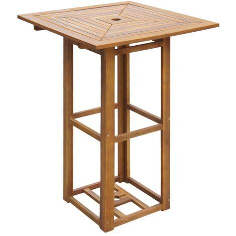 vidaXL Bistro Table 75x75x110 cm Solid Acacia Wood - Brown