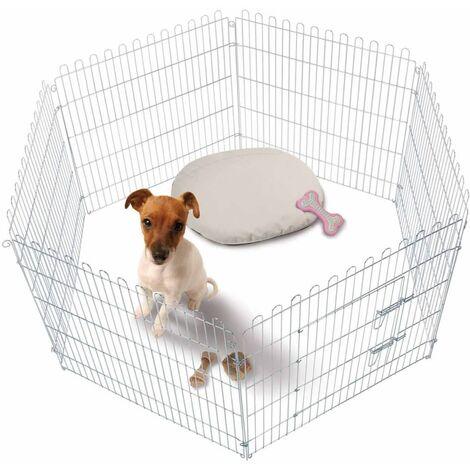 FLAMINGO Puppy Playpen 160x80 cm 507806 - Silver