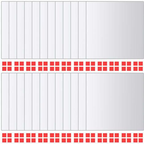 vidaXL 24 pcs Mirror Titles Square Glass - Silver