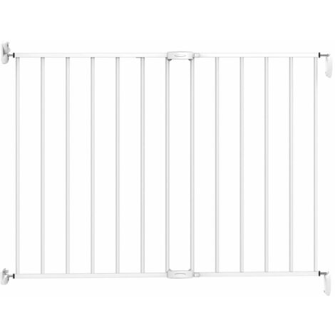 Noma Extending Safety Gate 62-102 cm Metal White 93361 - White
