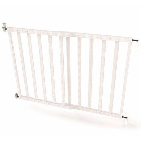 Noma Extending Safety Gate 63.5-106 cm Wood White 94153 - White