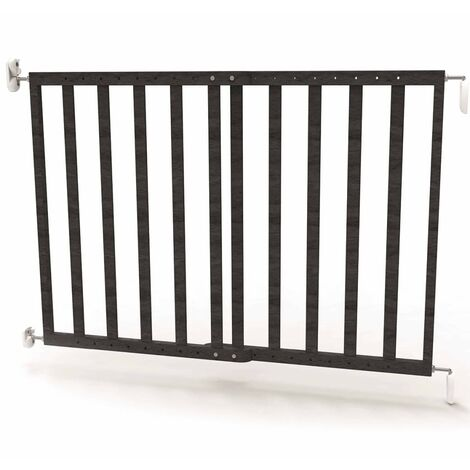 Noma Extending Safety Gate 63.5-106 cm Wood Grey 94146 - Grey