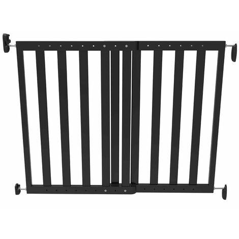Noma Extending Safety Gate 63.5-106 cm Wood Black 93743 - Black