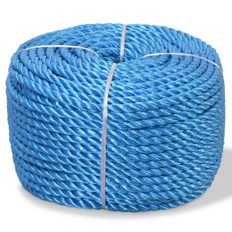 vidaXL Twisted Rope Polypropylene 6 mm 200 m Blue