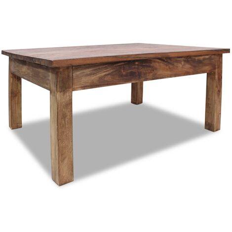 vidaXL Coffee Table Solid Reclaimed Wood 98x73x45 cm - Brown