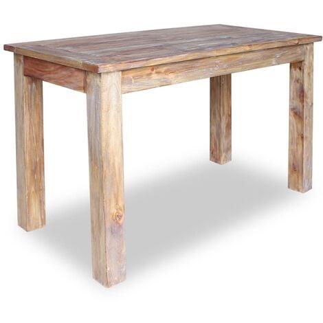 vidaXL Dining Table Solid Reclaimed Wood 120x60x77 cm - Brown