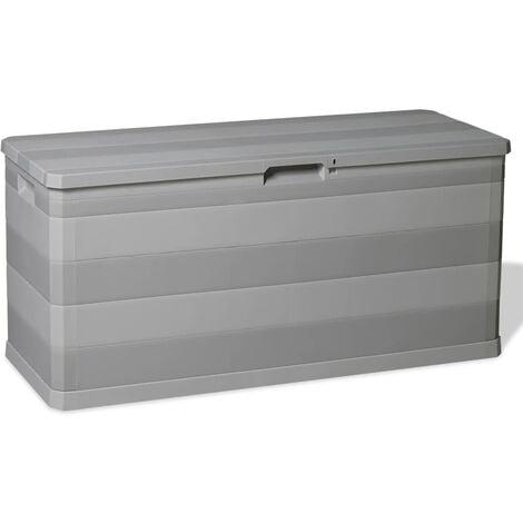 vidaXL Garden Storage Box Grey 117x45x56 cm - Grey