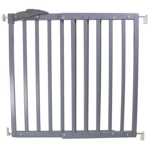 A3 Baby & Kids Safety Gate Oslo 71-102 cm Wood Grey 64635 - Grey