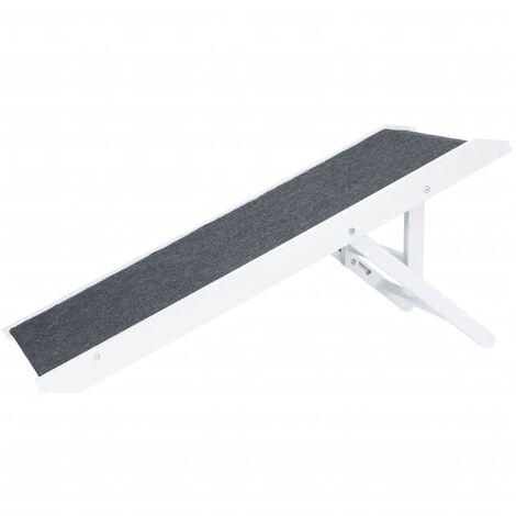 TRIXIE Height Adjustable Pet Ramp 36x90 cm MDF White 39375 - White