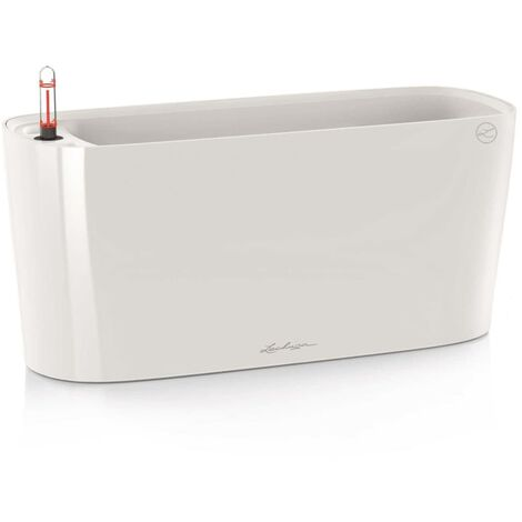 LECHUZA Table Planter Delta 20 ALL-IN-ONE White High Gloss 15560 - White