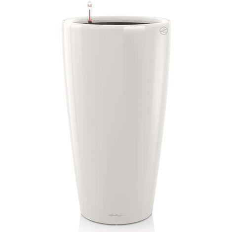 LECHUZA Planter Rondo 40 ALL-IN-ONE High Gloss White 15740 - White