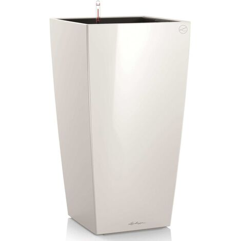 LECHUZA Planter Cubico 40 ALL-IN-ONE High-Gloss White 18191 - White