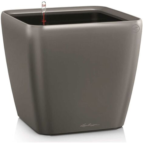 LECHUZA Planter Quadro 43 LS ALL-IN-ONE Charcoal 16183 - Grey