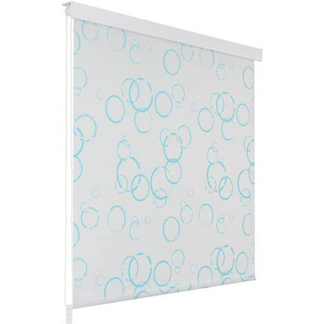 vidaXL Shower Roller Blind 80x240 cm Bubble - White