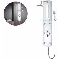 vidaXL Shower Panel Unit 25x43x120 cm Silver