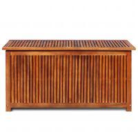 vidaXL Garden Storage Box 117x50x58 cm Solid Acacia Wood - Brown