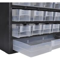 41-Drawer Plastic Storage Cabinet Tool Box - Black