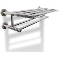 Stainless Steel Towel Rack 6 Tubes - Silver