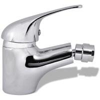 vidaXL Bathroom Bidet Mixer Tap Chrome - Silver