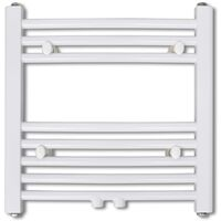 vidaXL Bathroom Radiator Central Heating Towel Rail Curve 480 x 480 mm - White