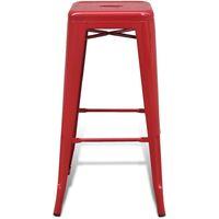 vidaXL Bar Stools 2 pcs Steel Red - Red