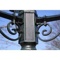 vidaXL Garden Light Post 3-arms 215 cm Dark Green/Black Aluminium - Green