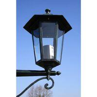 vidaXL Garden Light Post 2-arms 215 cm Dark Green/Black Aluminium - Green