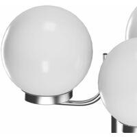 Garden Lamp Post 3 Lamps 220cm - White