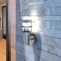 Patio Wall Light Lamp Stainless Steel - Silver